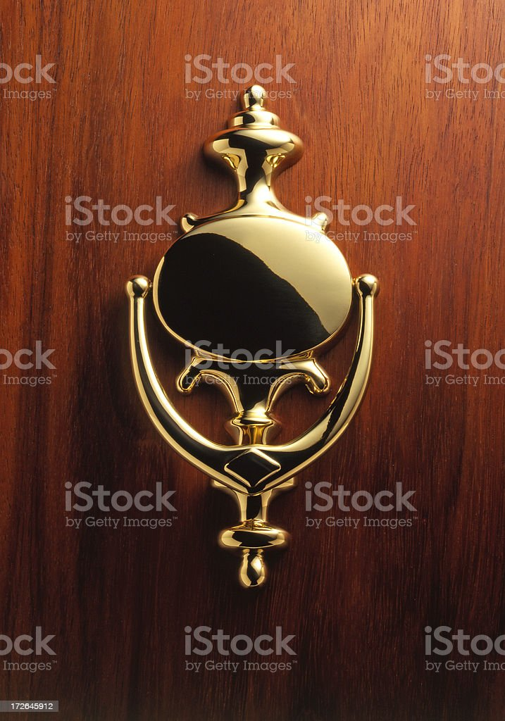 Elegant Brass Door Knocker stock photo