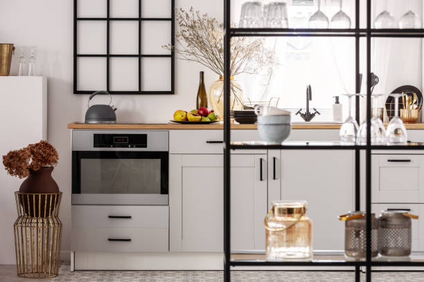 Elegant bright kitchen interior with white cupboards and black shelf picture id1146748154?b=1&k=6&m=1146748154&s=612x612&w=0&h=lky829xngl0zujf29 gzpojghi1bzhyipbntjnc1 nw=