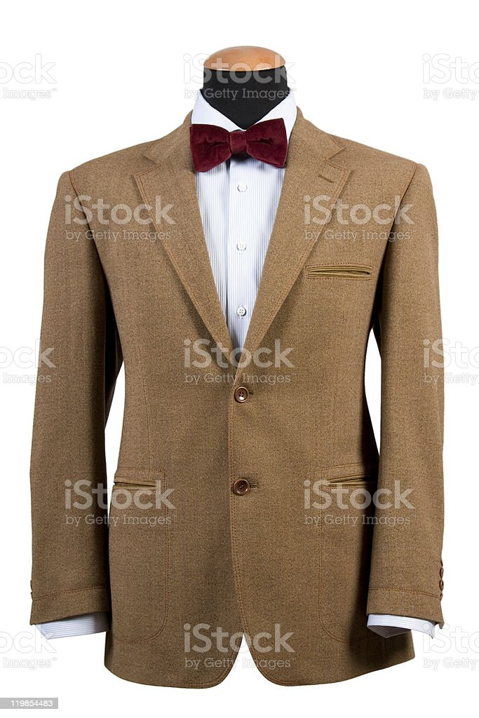 elegant brown suit stock photo