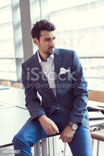 istock Elegant businessman in the office 533746927
