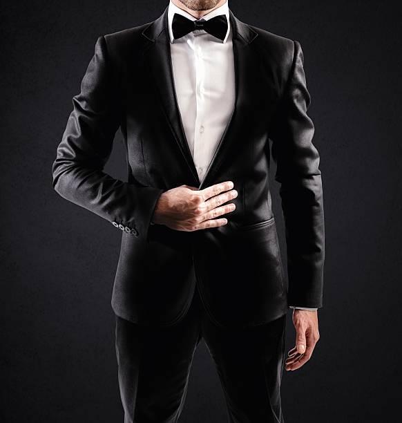 elegant businessman - tuxedo stock photos and pictures