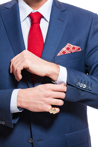 Elegant Businessman Wearing Suit Stock Photo - Download Image Now