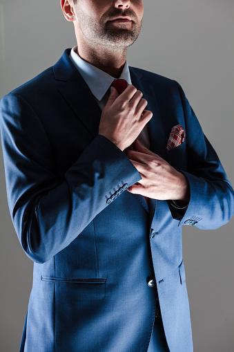 Elegant Businessman Wearing Suit Stock Photo - Download Image Now