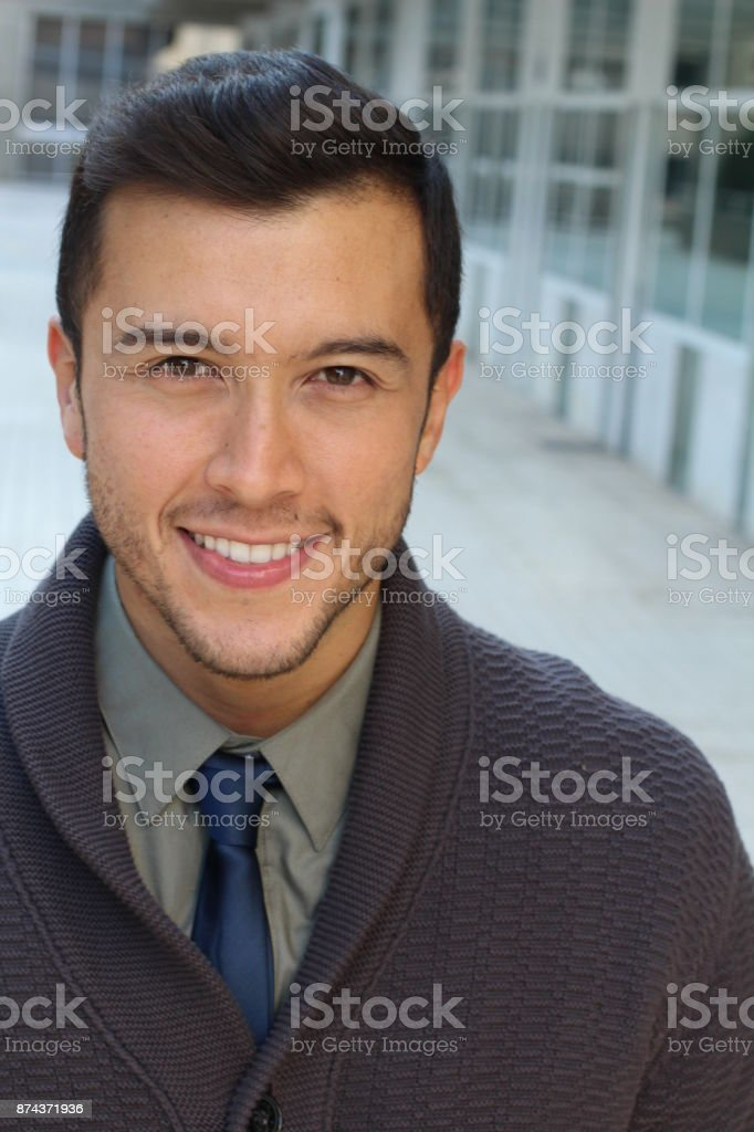 Elegant businessman with a very nice outfit stock photo