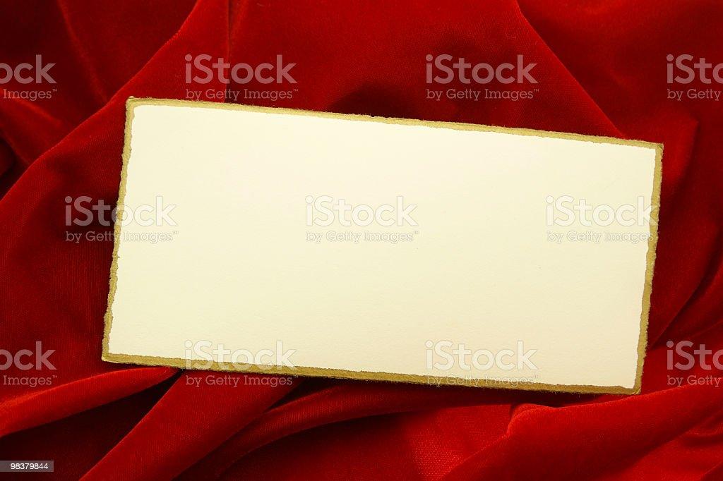 Elegant Card on Red Velvet royalty-free stock photo