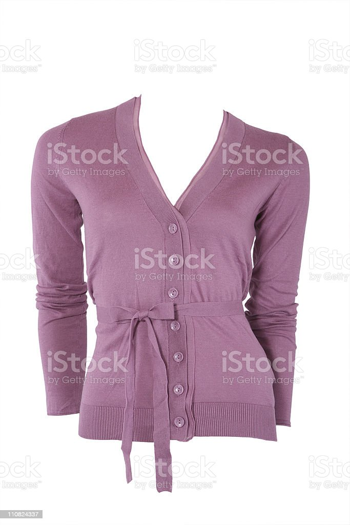 Elegant cashmere female cardigan stock photo