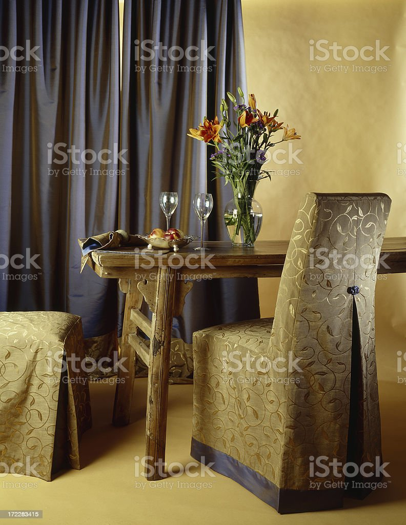 Elegant Chair and Table royalty-free stock photo