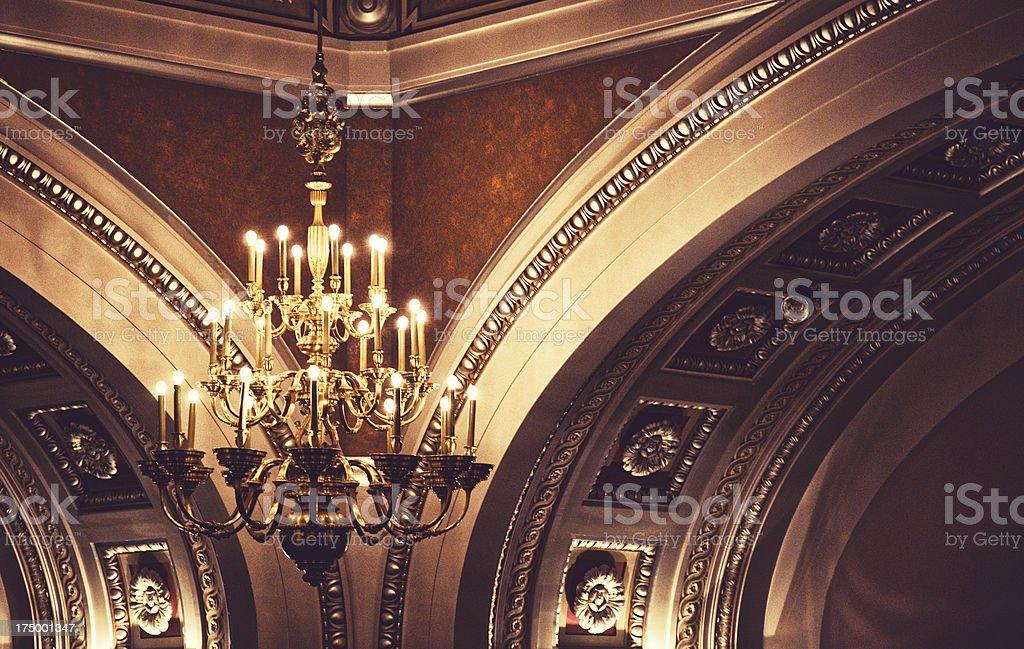 Elegant Chandelier stock photo