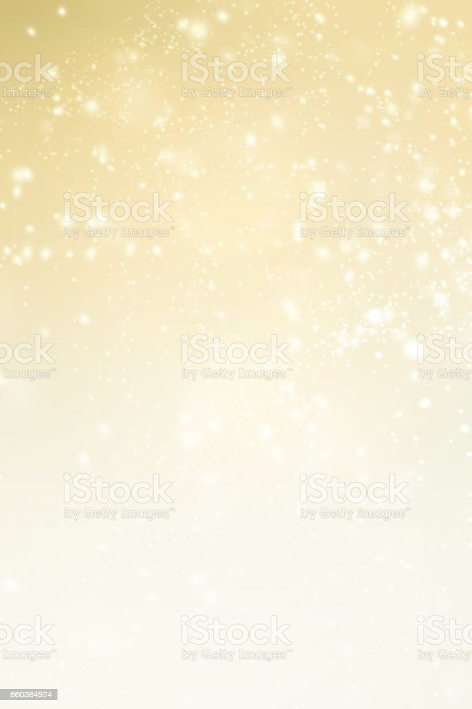 Elegant Christmas background with sparkling bokeh, snowflakes and copy place for text. Abstract Shiny Xmas  card. stock photo