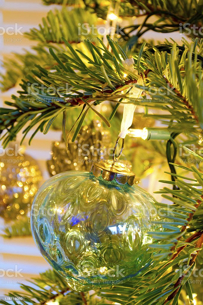 Elegant Christmas Ornaments.Elegant Christmas Ornaments Stock Photo Download Image Now