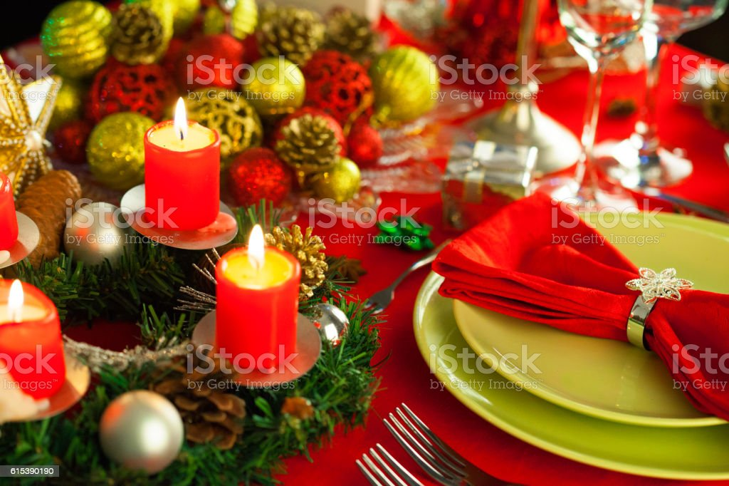 Elegant Christmas Table Setting Stock Photo More Pictures Of