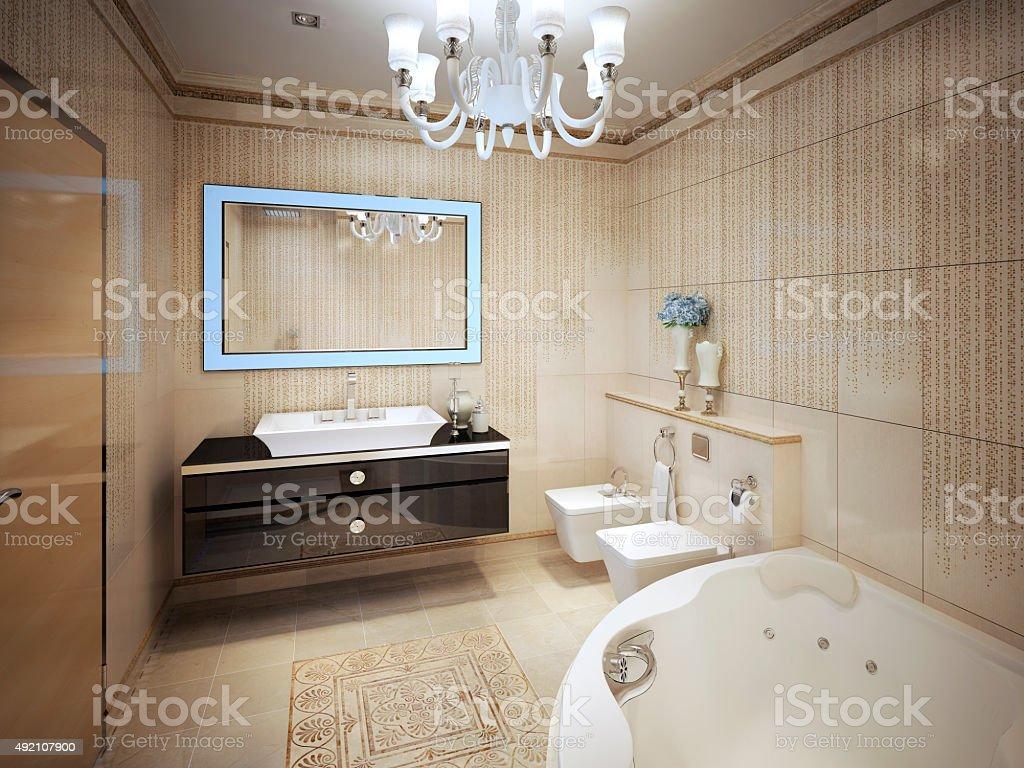 Elegant Classic Bathroom stock photo