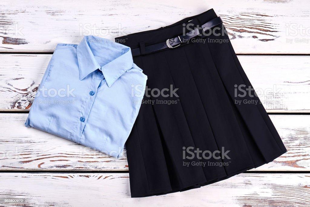 Elegant cotton shirt and skirt. royalty-free stock photo
