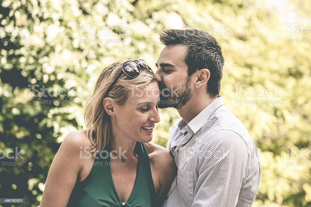 Elegant couple enjoying relationship royalty-free stock photo