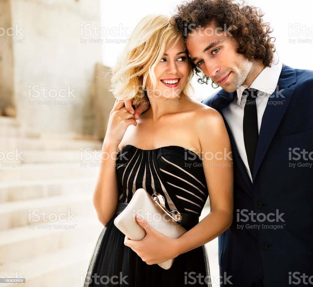 Elegant couple stock photo