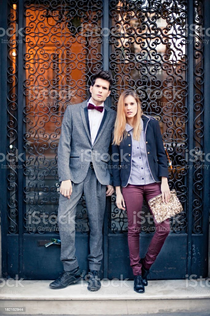 Elegant couple royalty-free stock photo