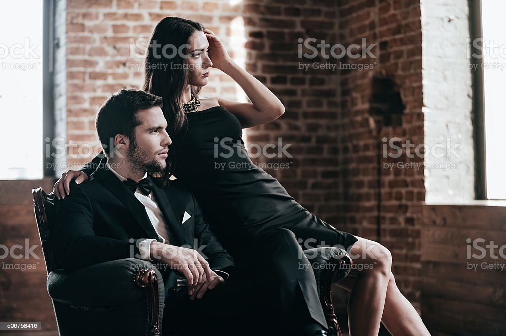 Elegant couple. stock photo