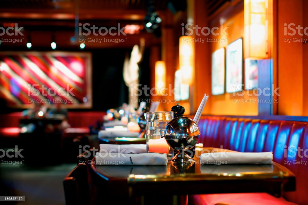 Elegant dining area at upscale bar royalty-free stock photo