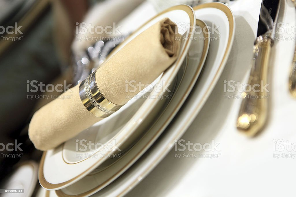 elegant  dining decoration royalty-free stock photo