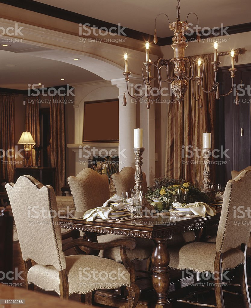 Elegant Dining Room Close - Up 2 royalty-free stock photo