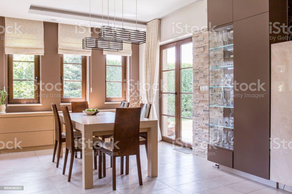 Elegant dining room design stock photo