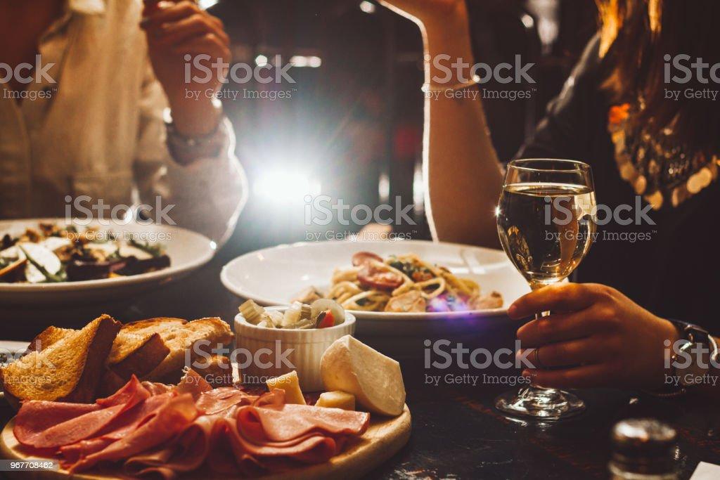Jantar elegante - foto de acervo