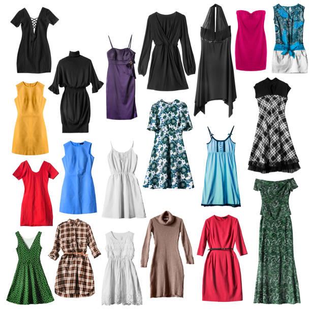İzole zarif elbiseler stok fotoğrafı
