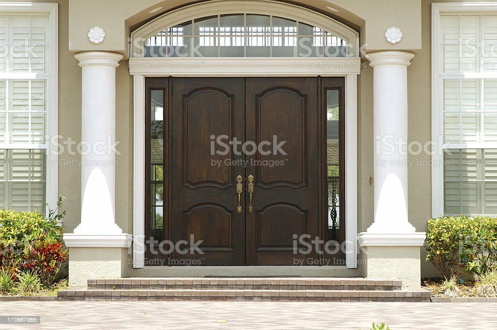 Elegant Entry to Luxury Home stock photo
