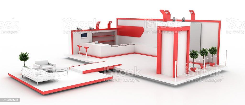 Elegant exhibition booth stock photo