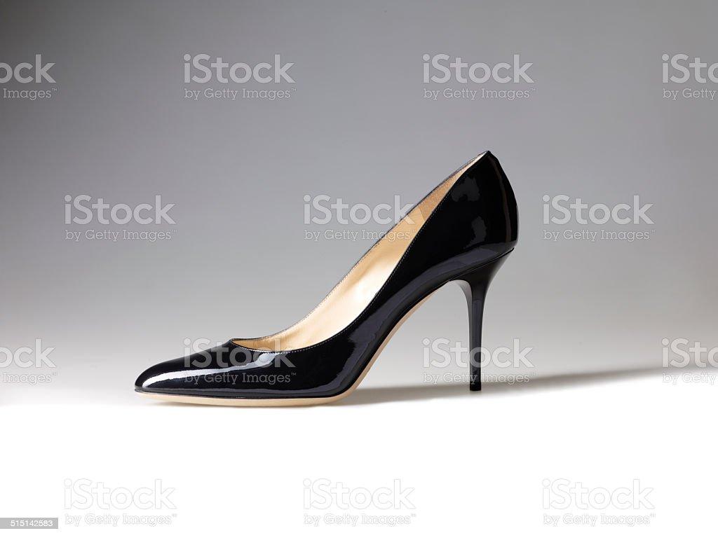 91845b8c2dc0 Elegant expensive black high heel women shoes on white background - Stock  image .
