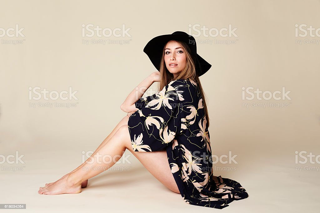 Elegant fashion model stock photo