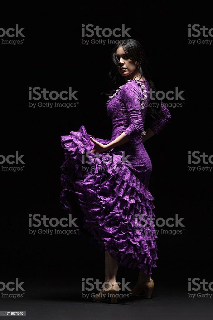 Elegant flamenco Dancer stock photo