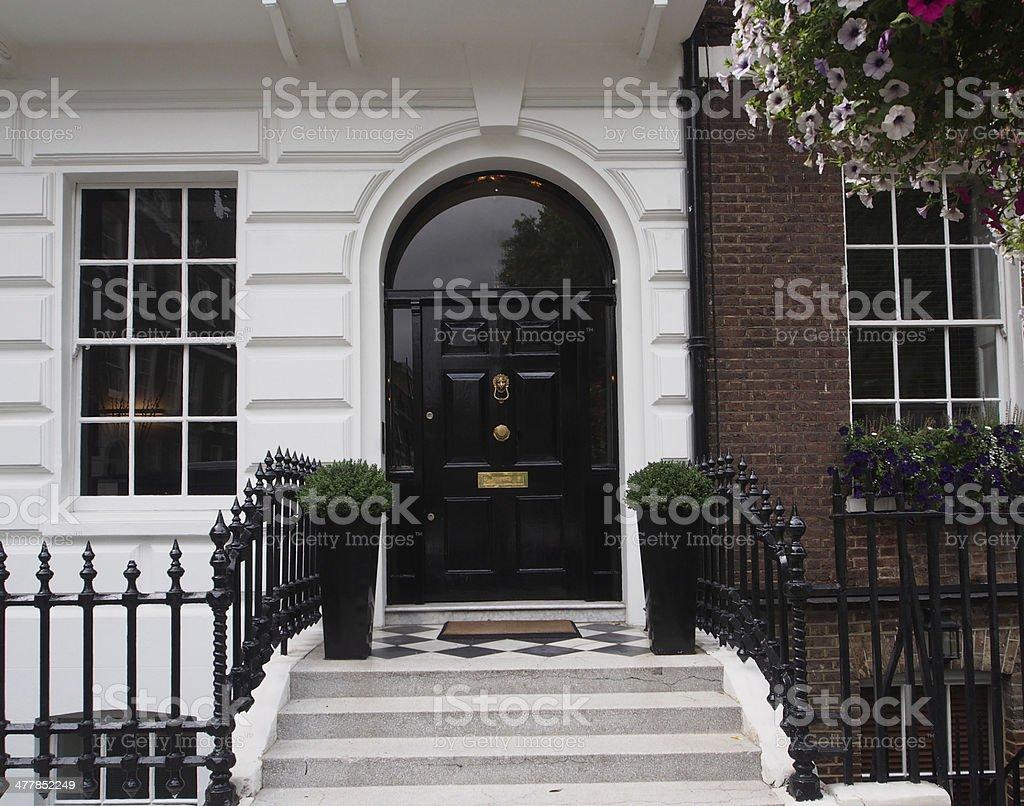 Elegant front door stock photo