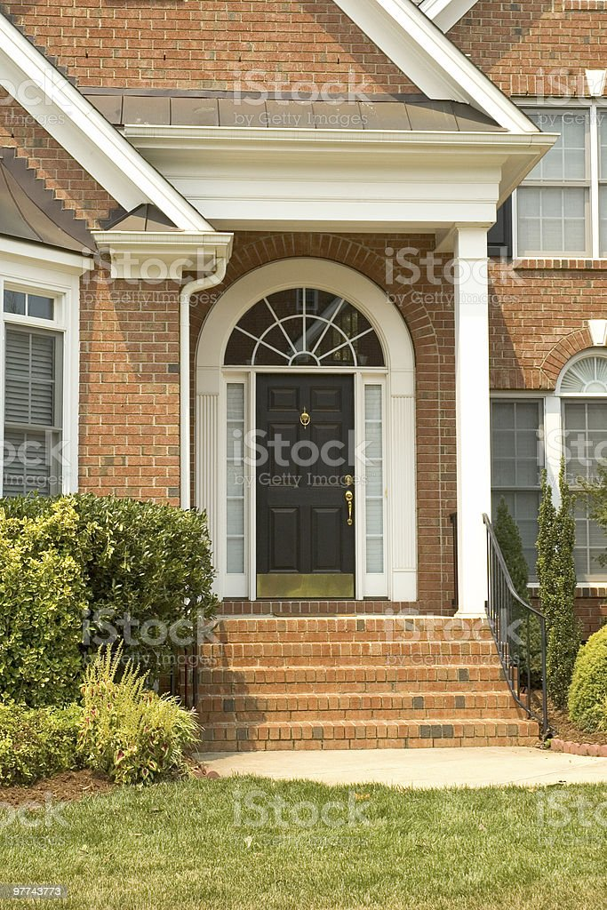 Elegant Front Door royalty-free stock photo