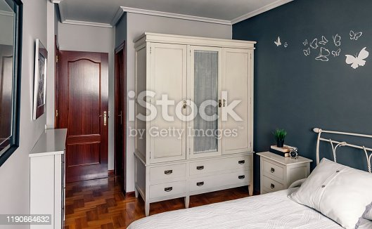 istock Elegant furnished double bedroom interior 1190664632