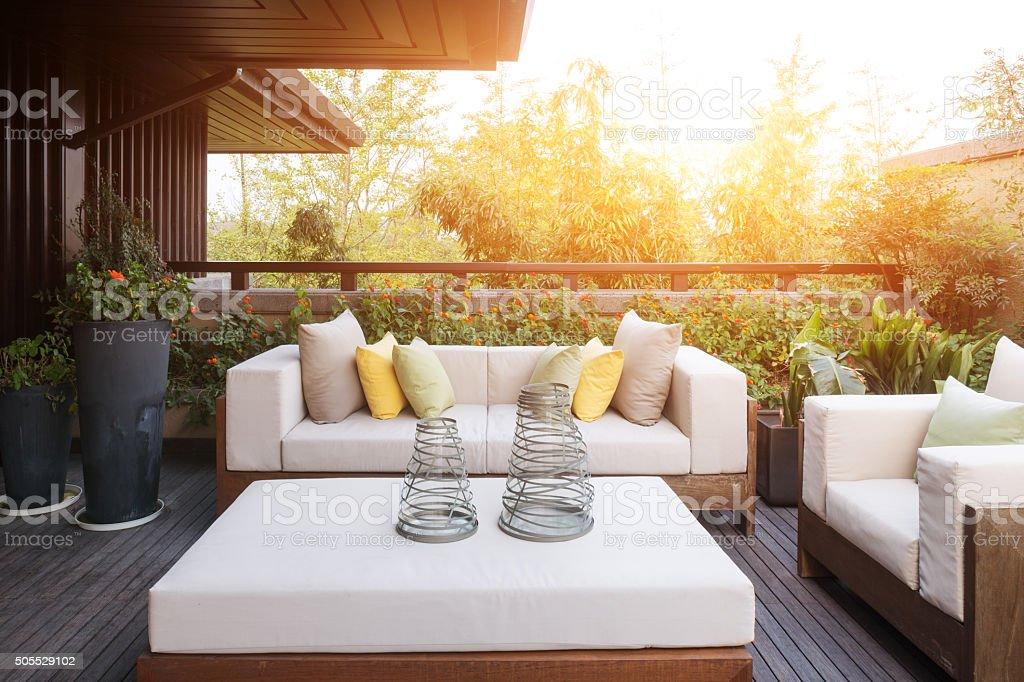 Superior Elegante Einrichtung Und Design In Moderner Terrasse Lizenzfreies Stock Foto Good Ideas