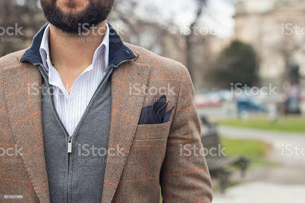 elegant gentleman in a jacket foto stock royalty-free