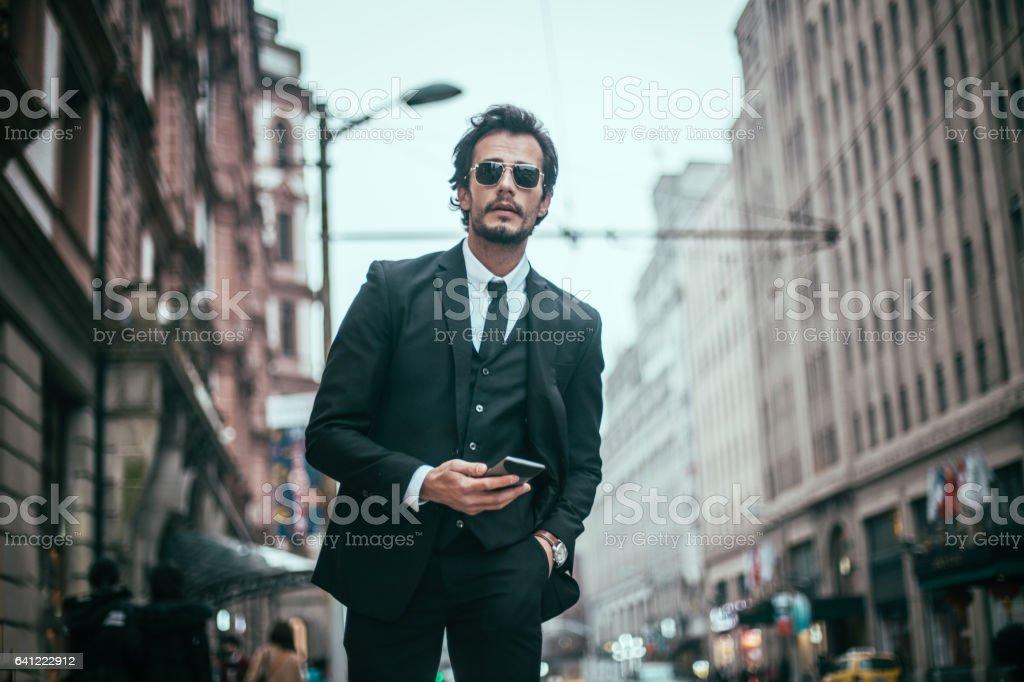 Elegant gentleman stock photo