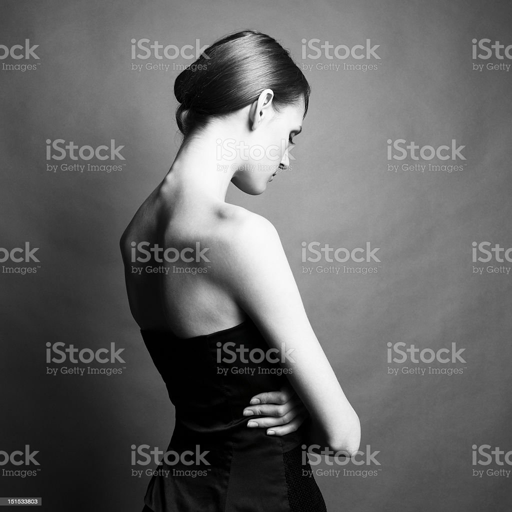 Elegant girl royalty-free stock photo