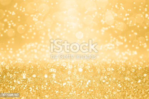 istock Elegant Gold Glitter Sparkle Background for Wedding Anniversary, Birthday or Christmas 877098762