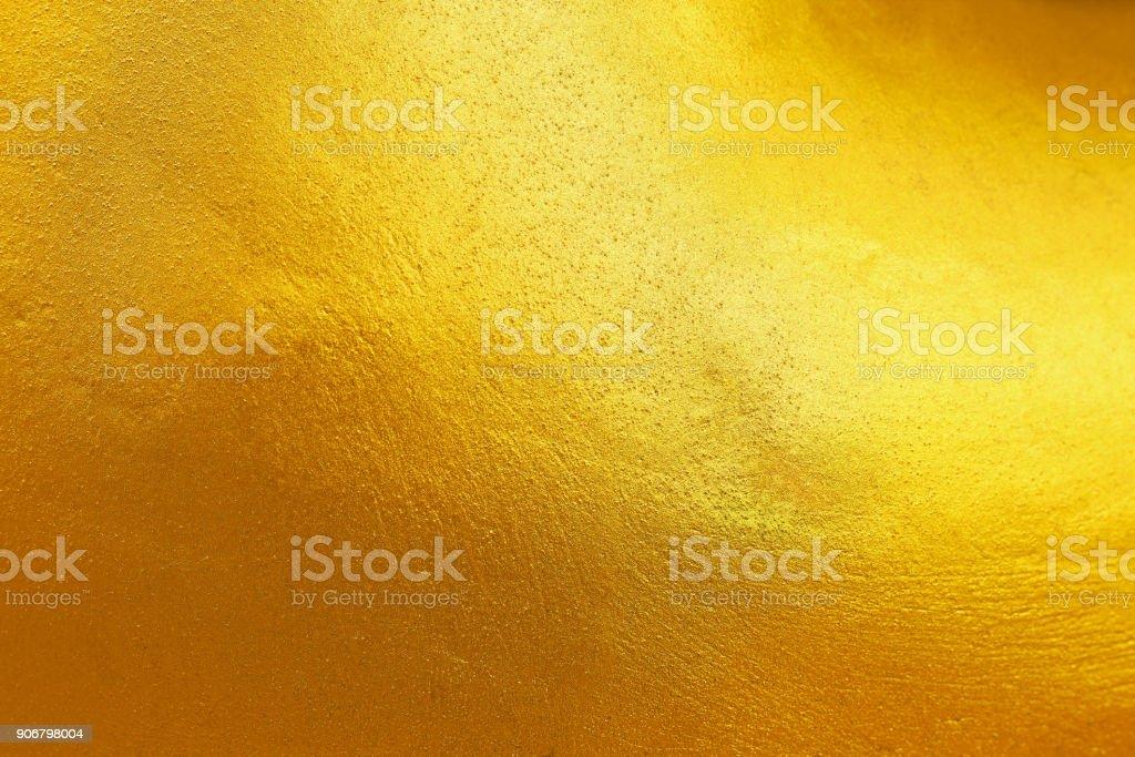 elegante Gold gemalt auf Zement und Beton Textur für Muster und Hintergrund – Foto