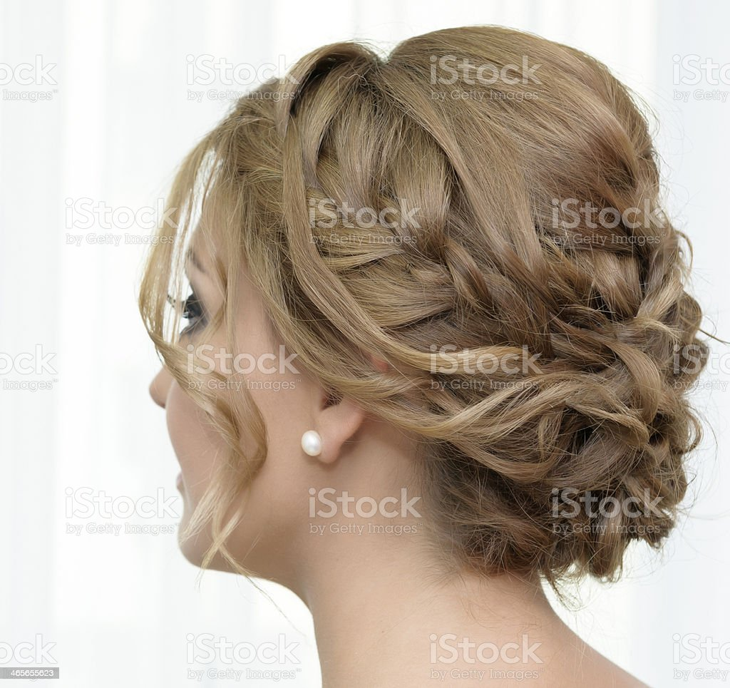elegant hairstyle stock photo