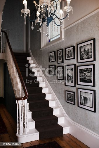 Victorian staircase and entrance hall