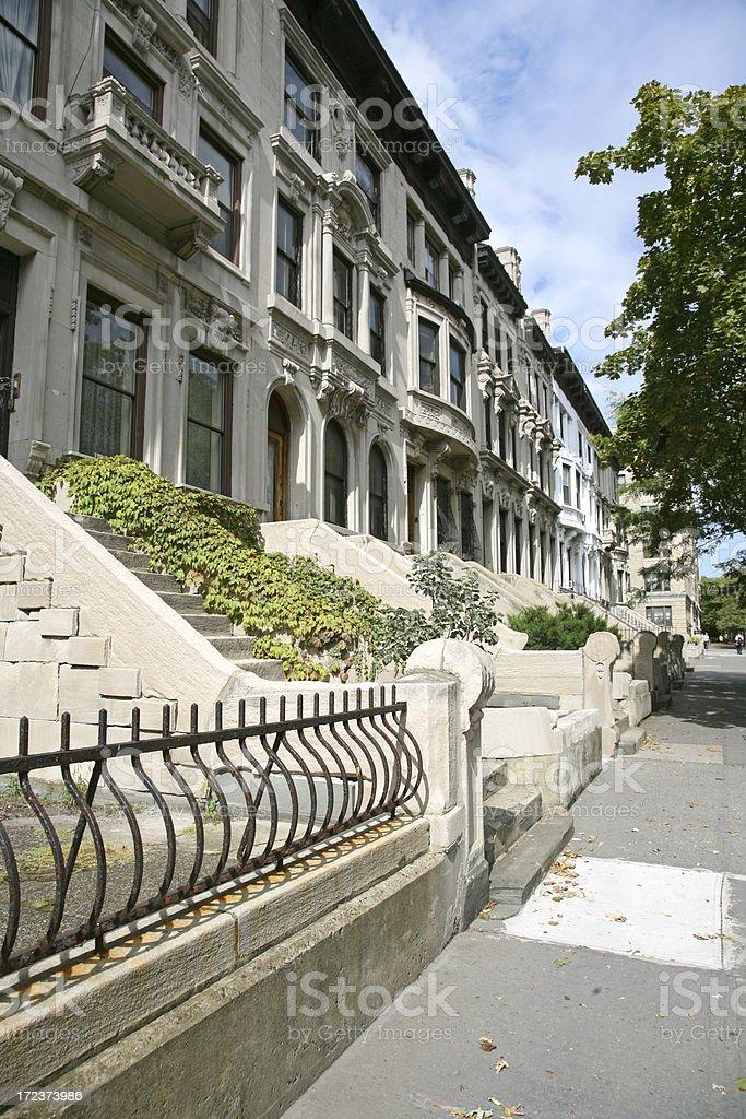 Elegant Harlem Townhouses royalty-free stock photo