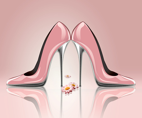 578573556 istock photo Elegant high heel shoes, symbol for wedding and engagement. 531184087
