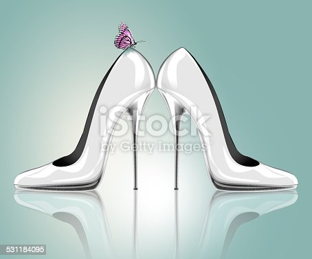 578573556istockphoto Elegant high heel shoes with butterfly 531184095