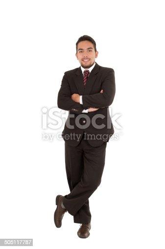 istock elegant hispanic man in a suit 505117787