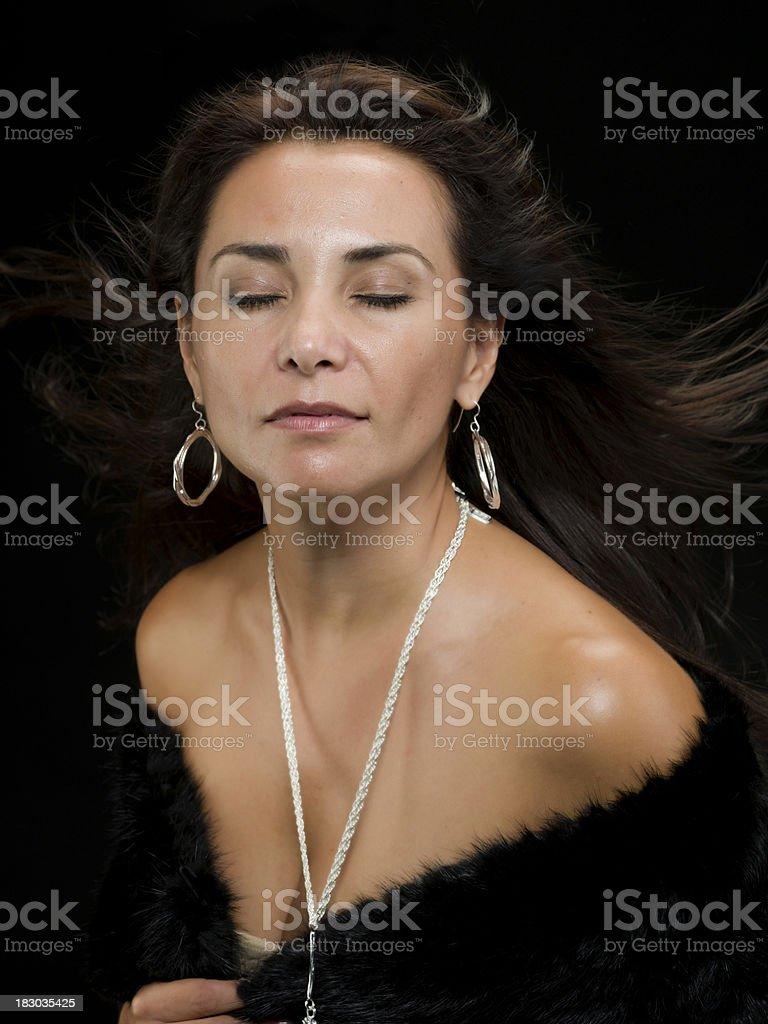 Elegant Hispanic mature woman royalty-free stock photo