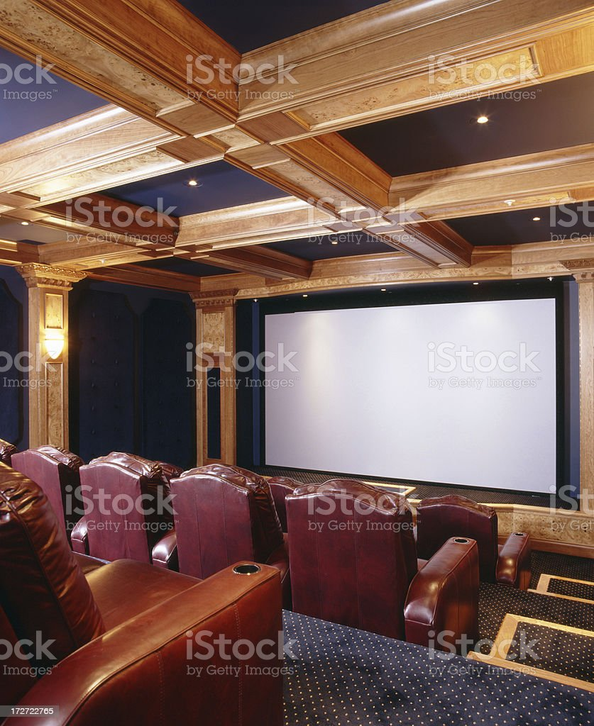 Elegant Home Theater royalty-free stock photo