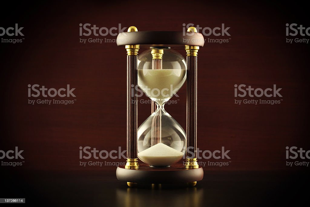 Elegant hourglass royalty-free stock photo